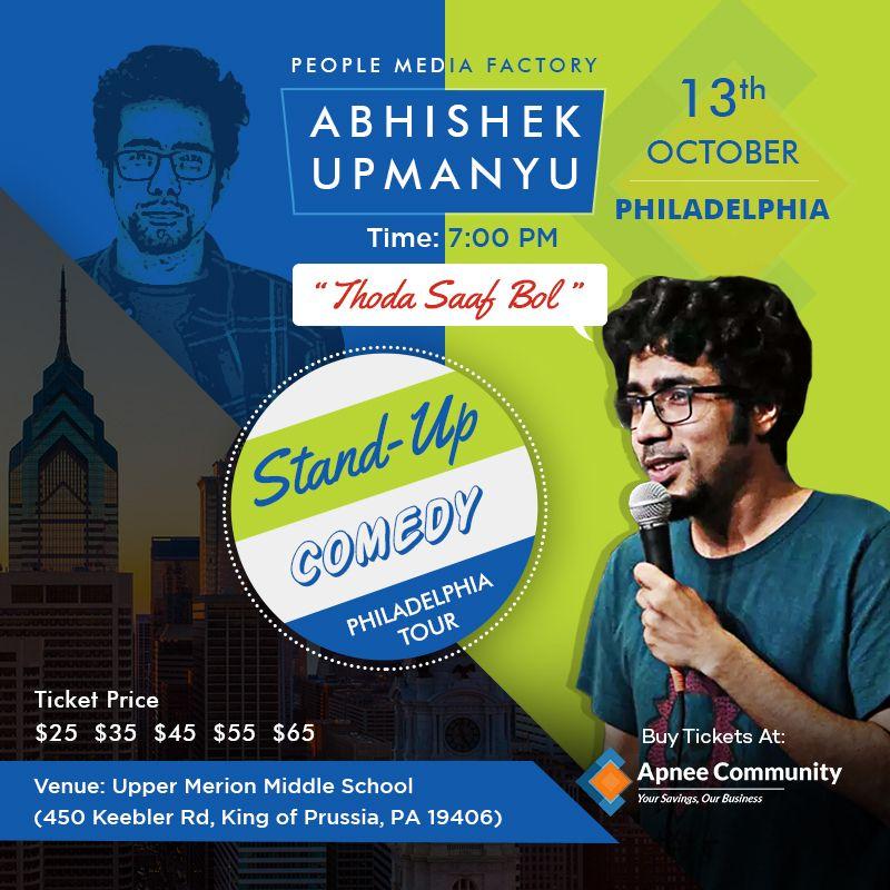 Abhishek Upmanyu Stand-Up Comedy Live in Philadelphia
